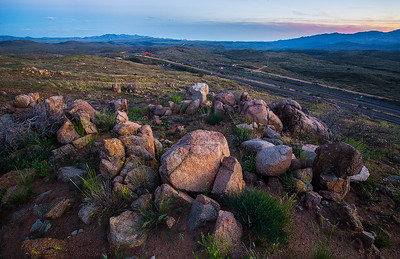 New River Mountains, Black Mesa, Agua Fria River Canyon, Bradshaw Mountains; south from Bloody Basin Rd exit