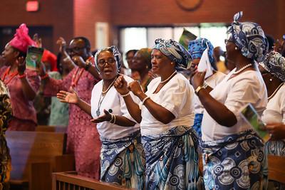 African Catholic celebration