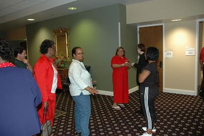 """Delta Sigma Theta Sorority Wichita Chapter June 2005.  Community Service Project: """"GIRLS"""" (Grooming Intelligent Respectable Loving Sisters)"""