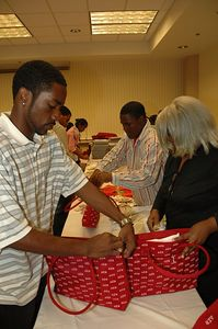 "Delta Sigma Theta Sorority Wichita Chapter June 2005.  Community Service Project: ""GIRLS"" (Grooming Intelligent Respectable Loving Sisters)"