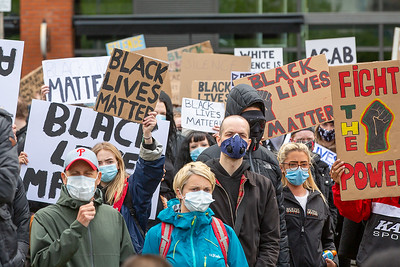 Black Lives Matter protest in Piccadilly Gardens, Manchester.