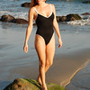 Pretty Redhead One Piece Swimsuit Model