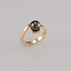 Black Pearl  Gold Dress Ring