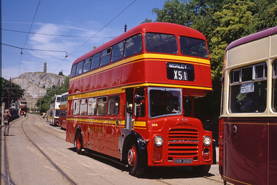 Black prince Morley HNW366D Crich Tramway Museum Jun 89
