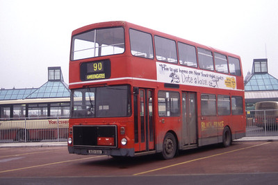 Black Prince Morley A101SSU Leeds Central Bus Station Mar 96