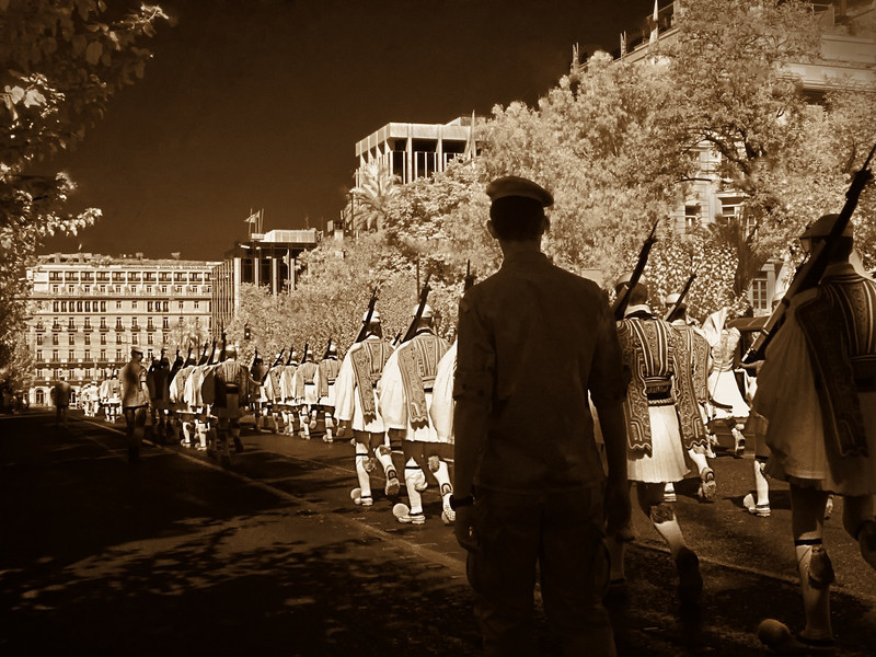 The Guards on Parade (infrared)