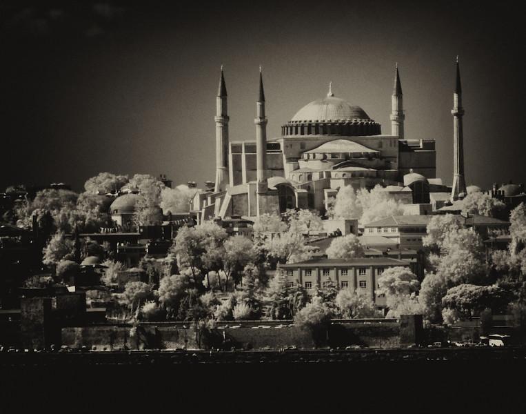 Going through the Bosphorus Strait (infrared)