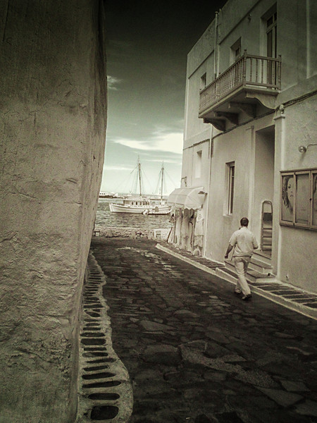 Mykonos, Greece (infrared)