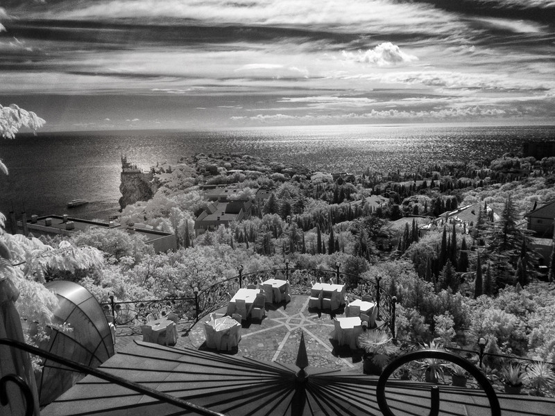 Yalta, Ukraine (infrared)