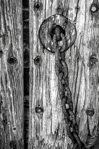 Old Chain on Weathered Wood