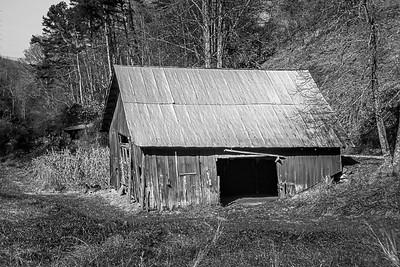 Rustic Barn Study 16 (BW)