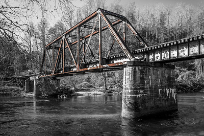 Rail Iron Bridge (Color & BW)