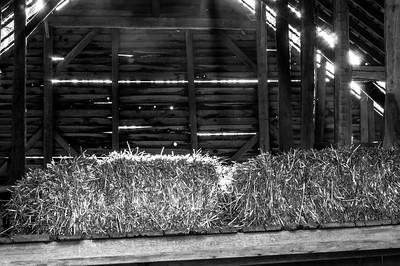 Hay Loft Morning  (BW)