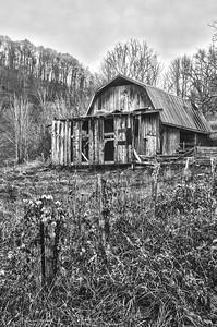 Rustic Barn Study 06 (BW)
