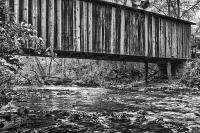 Cromer's Mill Covered Bridge (BW)