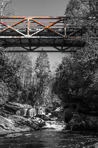 Iron Bridge Downstream (Color & B&W)