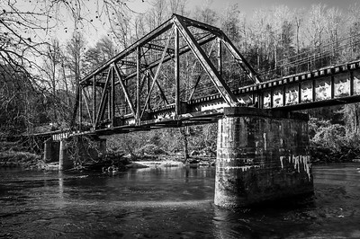 Rail Iron Bridge (B&W)