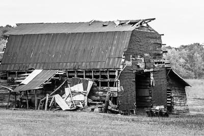 Rustic Barn Study 18 (BW)