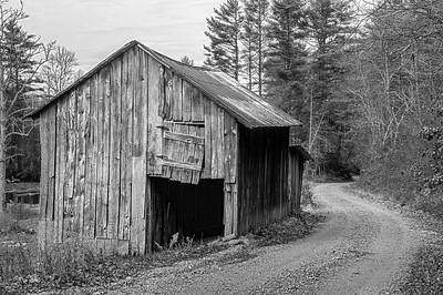 Rustic Barn Study 08 (BW)