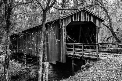 Howard's  Covered Bridge (BW)
