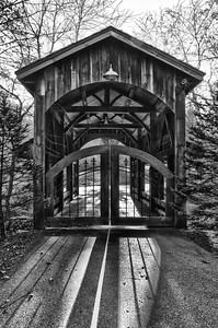 NC Covered Bridge Home Entrance (BW)