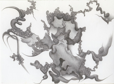 """Souvenirs de Noyers"" (silverpoint on Plike paper) by Jeannine Cook"