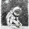 """""""Cosmonaut"""" (A4) by Victoria Dorozhko"""