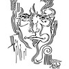 """Choice"" (felt-tip pen on paper) by Dmitry (Dikson) Ostapchuk"