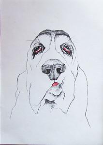 """A dog who hates"" (A3) by Victoria Dorozhko"