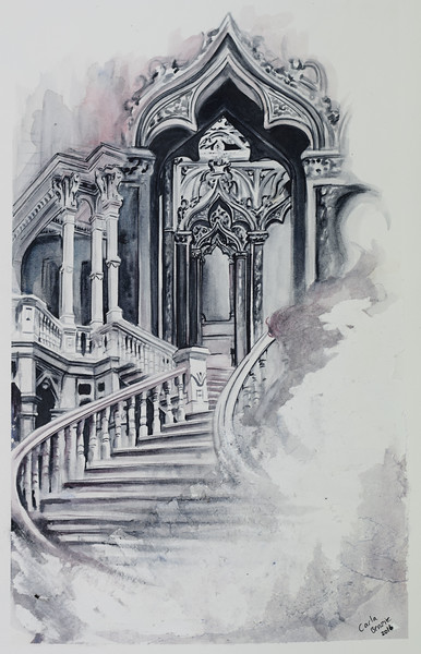 """""""Stairs"""" (watercolor) Carla Benzie"""