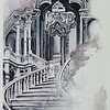 """Stairs"" (watercolor) Carla Benzie"