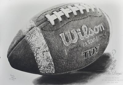 """Football"" (watercolor) Carla Benzie"