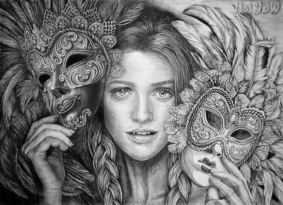 """""""Fiery Soul"""" (ink) by Natalya Sekretareva"""