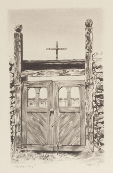 """""""Gateway"""" (graphite) by Carmen Badeau"""