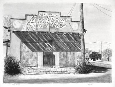 """""""Anita's"""" (graphite) by Carmen Badeau"""