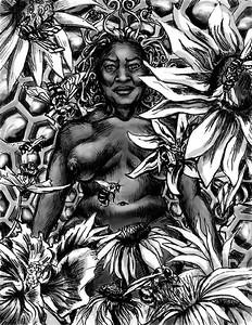 """Queen Bee"" (drawing) by Maya Just Maya"