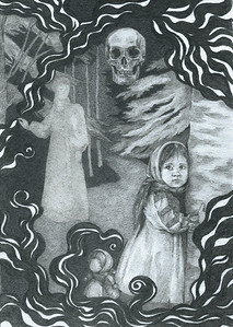 """Mother's blessing"" (graphite on paper) by Daria Buniak"