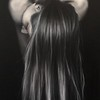 """Split End Personality"" (oil on canvas) by Marisa Andropolis"