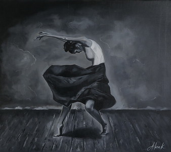 """Dancing"" (oil on canvas) by Alina Kasiumova"