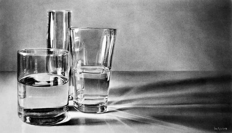 """""""Sparkling Water"""" (charcoal) by Dan Pyle"""