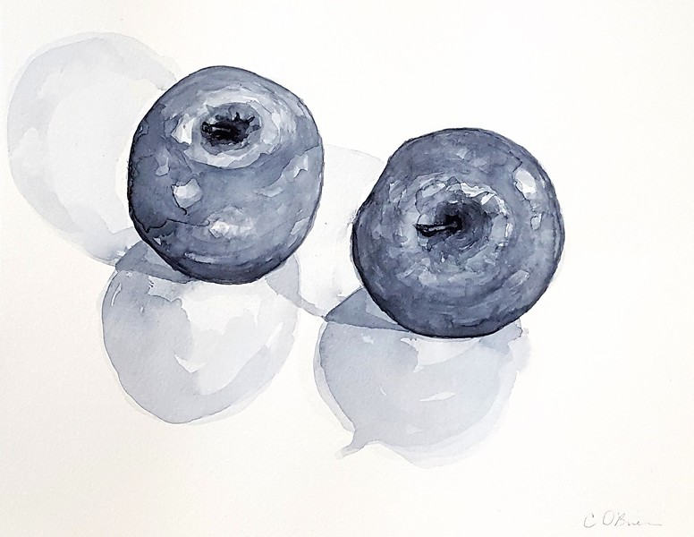 """Apple"" (watercolor) by Cena O'Brien"