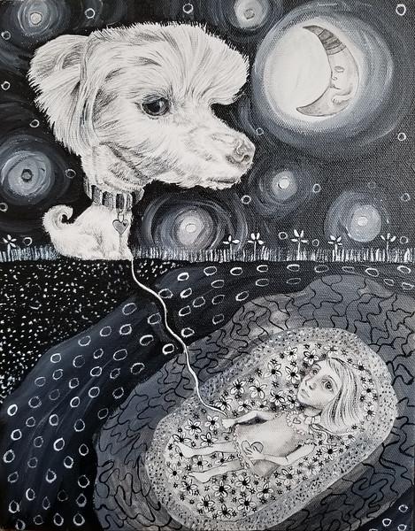"""Buried"" (acrylic) by Jennifer Carberry-landis"