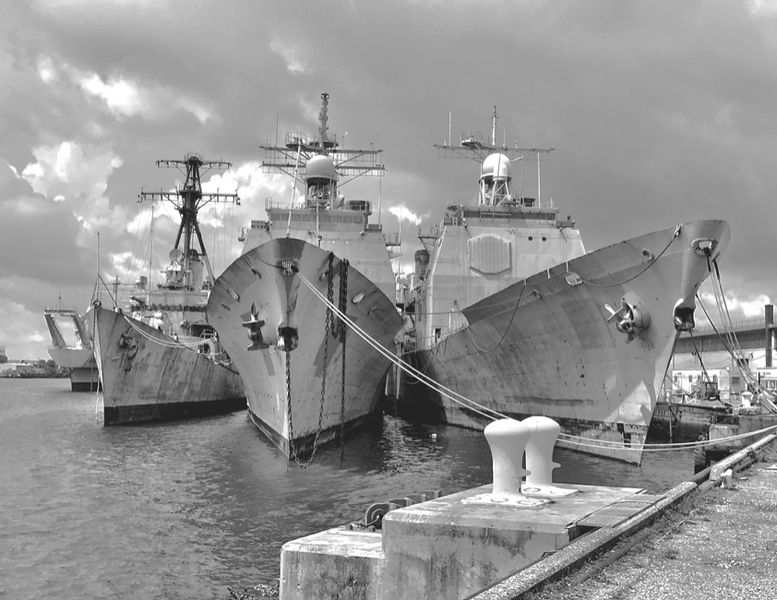"""Decommissioned Ships - Philadelphia Navy Yard"" (photography) by Stephen Smith"