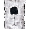 """Young tree"" (acrylic and Chinese ink on paper) by Marina Pospelova-Ezhevskaya"