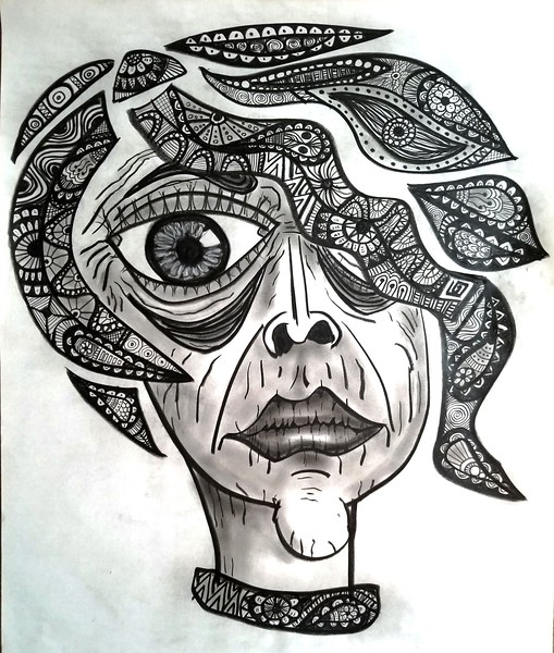 """""""Wave"""" (charcoal on paper) by William Erickson"""