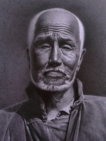 """Gaze forward"" (pencil) by Chao Yang"