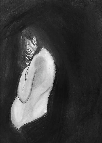 """SEED OF LOVE"" (charcoal) by Kiran Arora"
