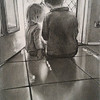 """""""By the Morning Light"""" (charcoal, pencil) by Lisa korff"""
