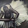 """LIKE AN EBONY STATUE"" (oil) by Tanya Kreymer"