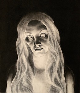 """Residual"" (charcoal) by Denise Carter"